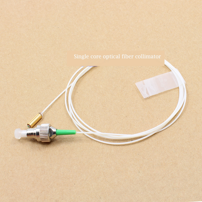 Single Core Optical Fiber Collimator Gold Plated Tube C-Lens APC Connector